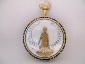 Orologio da tasca con automa indicatore di ore e minuti modello