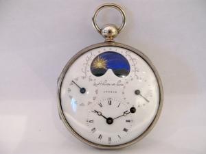 Orologio da tasca in argento con indicazione degli